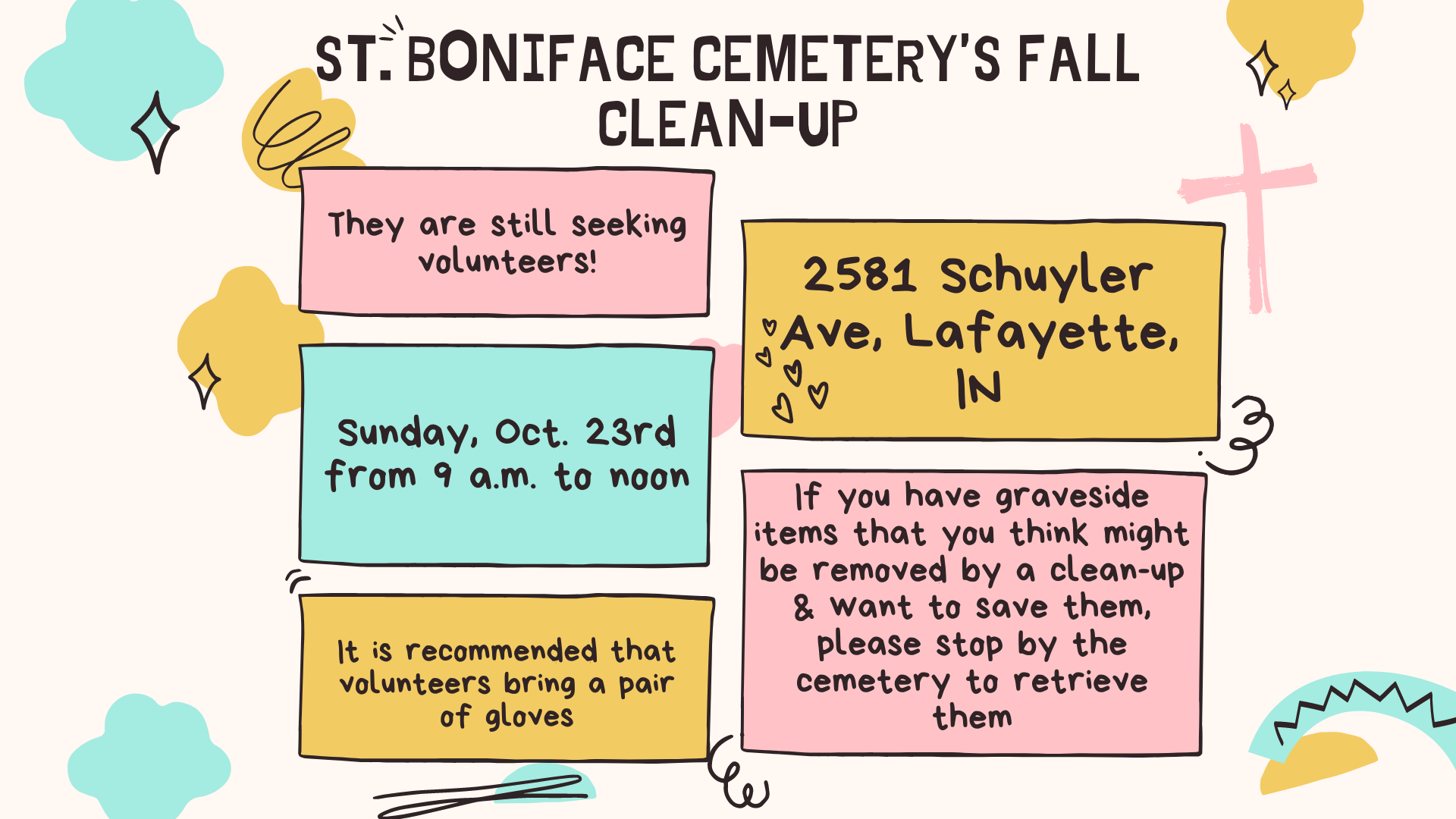 St. Boniface Cemetery's fall clean-up (Presentation) (1920 x 1080 px)